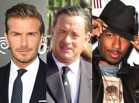 David Beckham, Tom Hanks, Nick Cannon