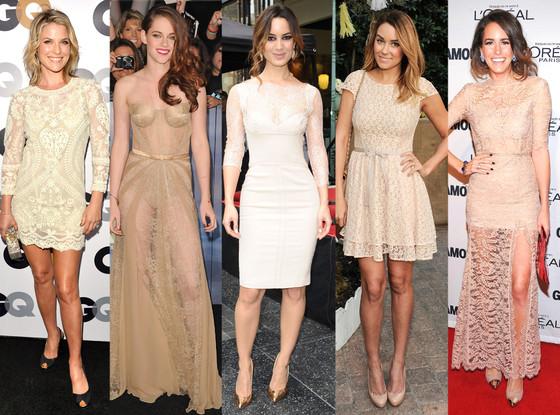 Nude Dresses: Ali Larter, Kristen Stewart, Berenice Marlohe, Lauren Conrad, Louise Roe