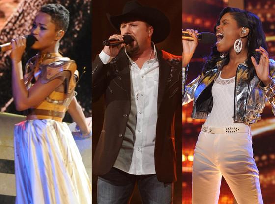 Tate Stevens, Diamond White, Paige Thomas, X Factor