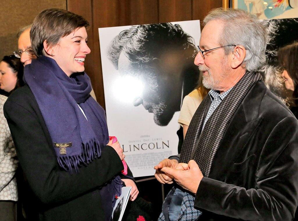 Anne Hathaway, Steven Spielberg
