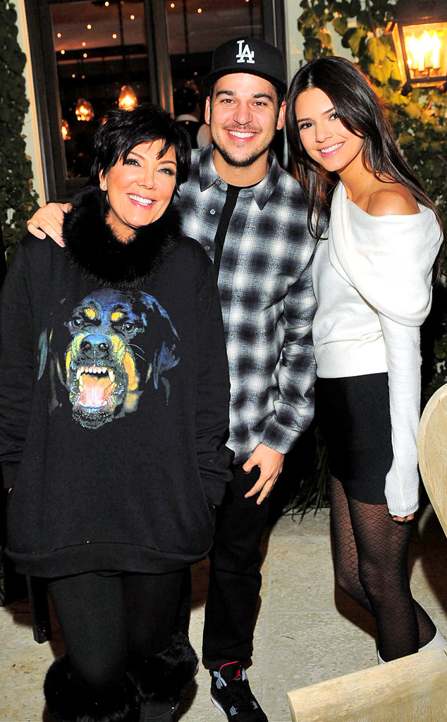 Kris Jenner, Rob Kardashian, Kendall Jenner, 17th Birthday Party