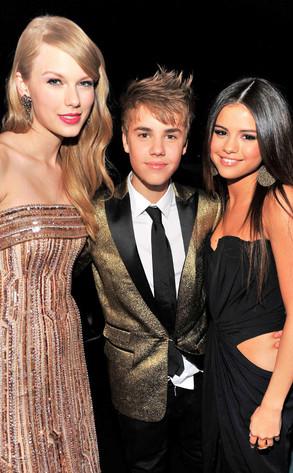 Taylor Swift, Justin Bieber, Selena Gomez
