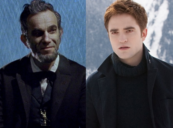 Daniel Day-Lewis, Lincoln, Robert Pattinson, Breaking Dawn Part 2