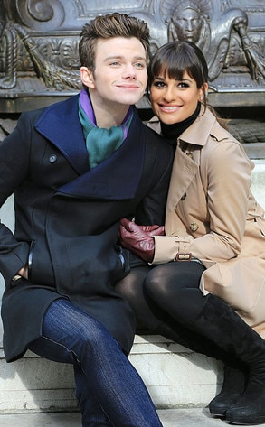 Lea Michele, Chris Colfer