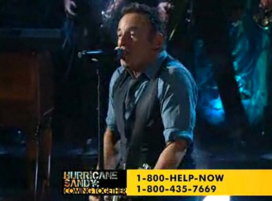 Bruce Springsteen, Hurricane Sandy Coming Together