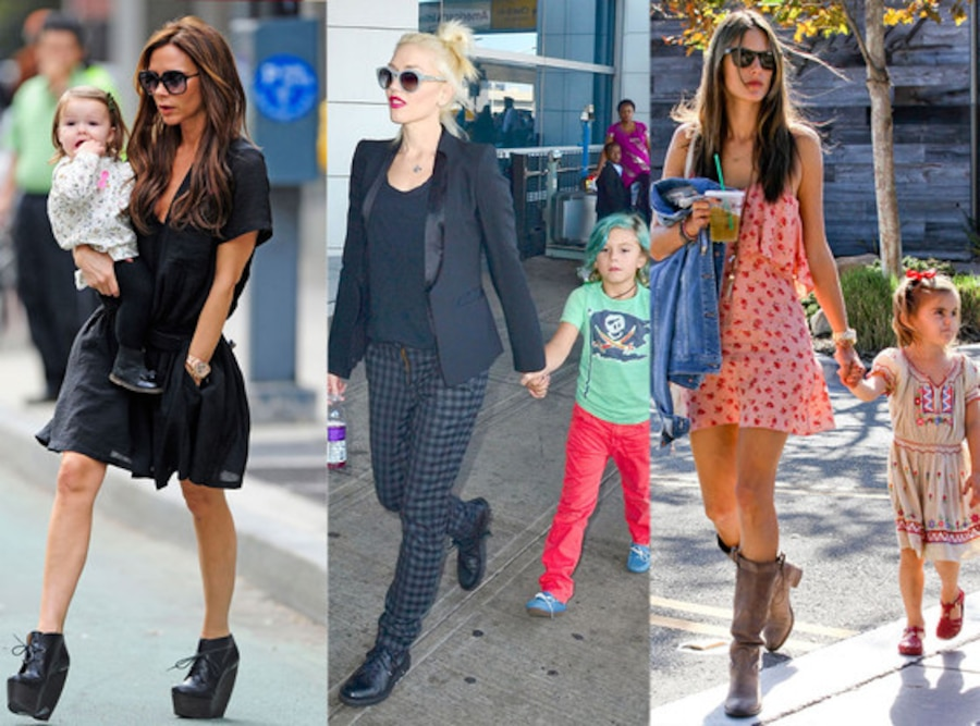 Victoria Beckham, Harper, Gwen Stefani, Kingston Rossdale, Alessandra Ambrosio, Anja