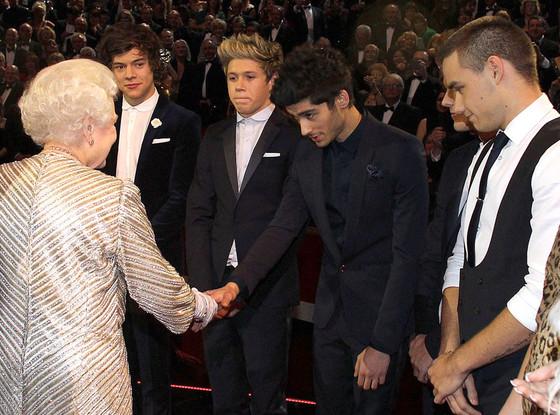 One Direction, Queen Elizabeth