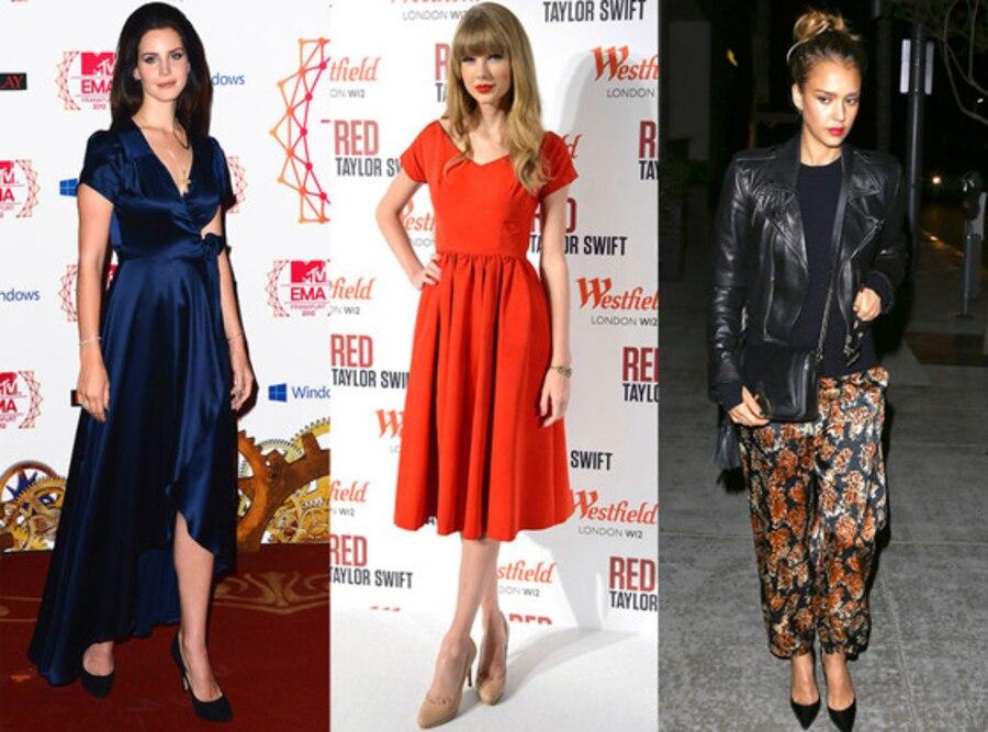 Lana Del Rey, Taylor Swift, Jessica Alba