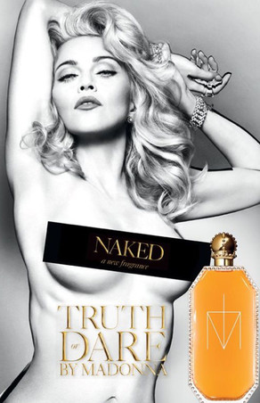 Madonna Gets Naked for Truth or Dare Fragrance Ad