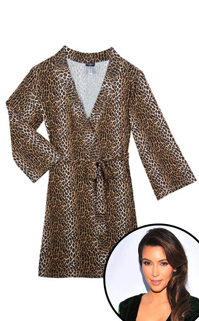 Cosabella Leopard Print Robe, Kim Kardashian
