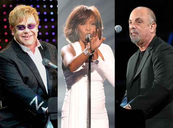 Elton John, Whitney Houston, Billy Joel