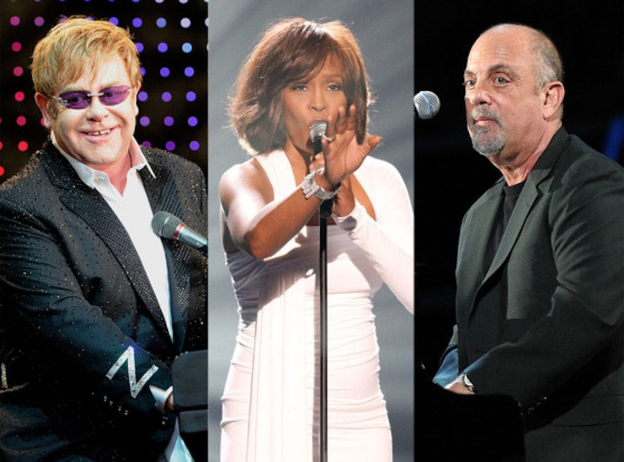 Elton John, Whitney Houston, Billy Joel