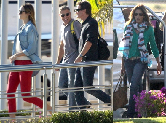 Stacy Keibler, Cindy Crawford, Rande Gerber, George Clooney