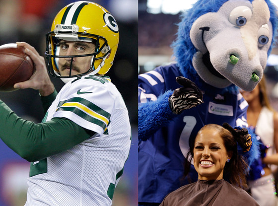 Aaron Rodgers, Megan Meadors, Colts Cheerleader