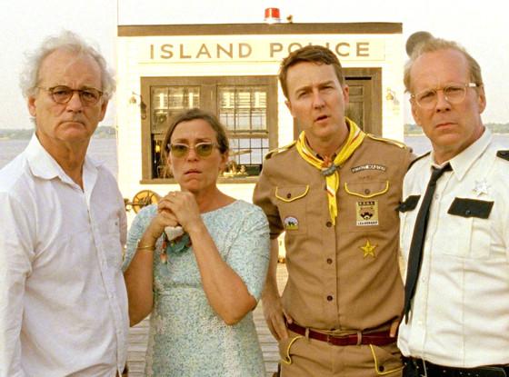 Bill Murray, Frances McDormand, Edward Norton, Bruce Willis, Moonrise Kingdom
