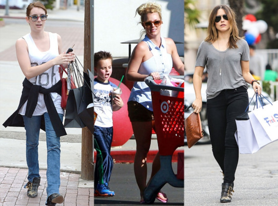 Emma Robert, Britney Spears, Sophia Bush