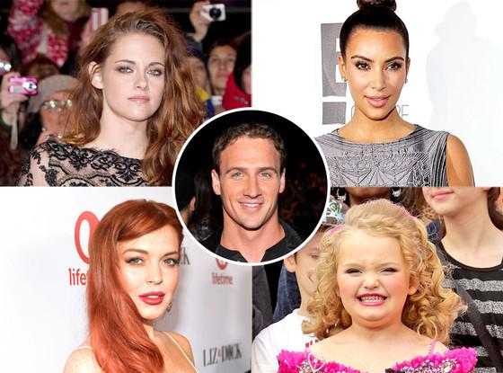Kristen Stewart, Lindsay Lohan, Honey Boo Boo, Kim Kardashian, Ryan Lochte