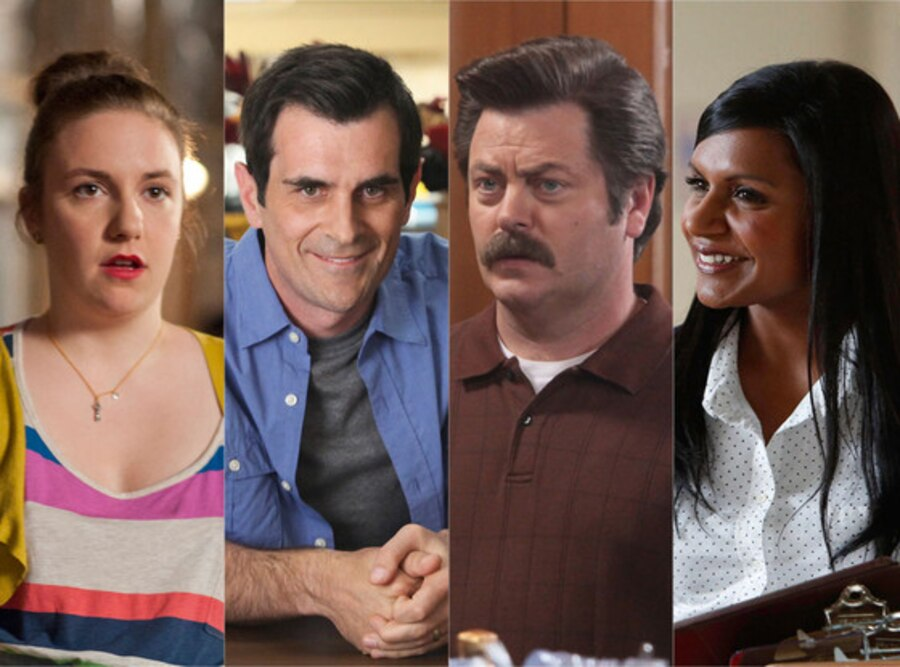 Lena Dunham, Girls, Ty Burell, Modern Family, Nick Offerman, Parks and Recreation, Mindy Kaling, The Mindy Project