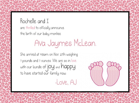 AJ McLean, Baby Announcement