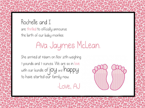 AJ McLean, Baby Announcement