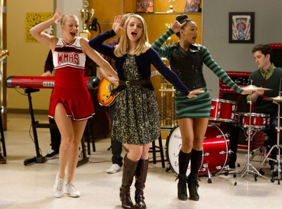 GLEE, Heather Morris, Dianna Agron, Naya Rivera