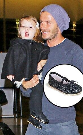 David Beckham, Harper Beckham, BLOCH ballet flats