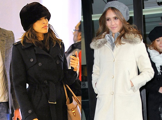 Faux Fur, Jessica Alba, Eva Mendes