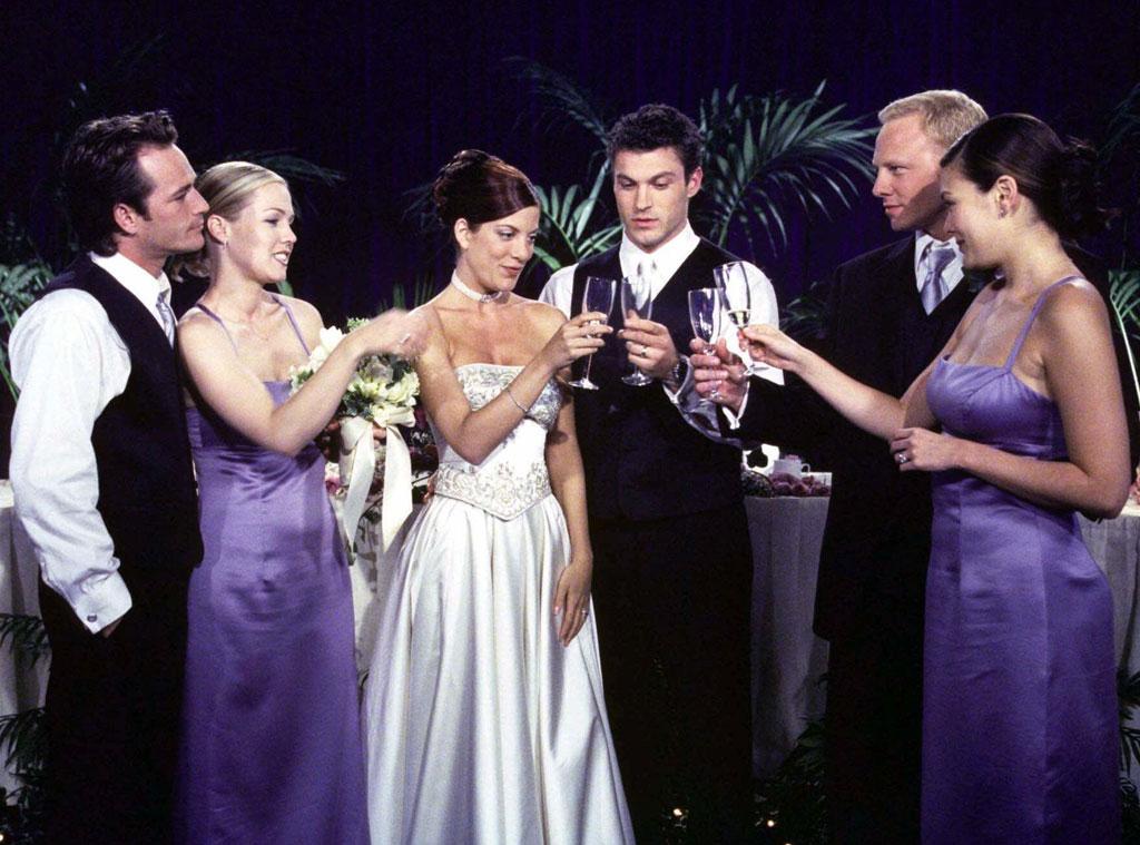 90210, Luke Perry, Jennie Garth, Ian Zering, Tori Spelling, Brian Austin Green