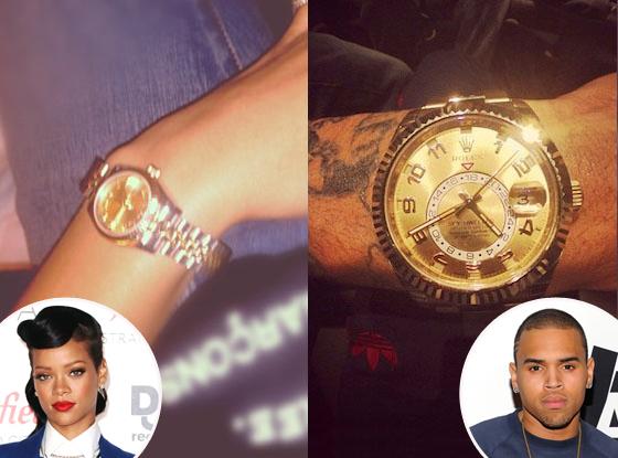 Rihanna, Chris Brown, Rolex watches