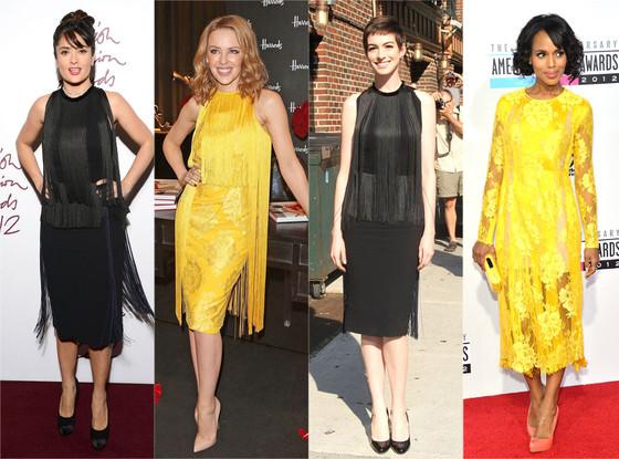 Salma Hayek, Kylie Minogue, Anne Hathaway, Kerry Washington