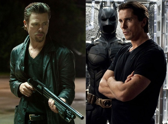 Brad Pitt, Killing Them Softly, Christian Bale, The Dark Knight Rises