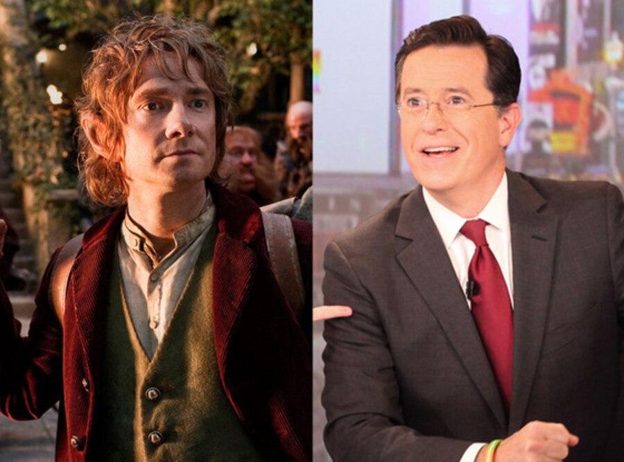 Martin Freeman, The Hobbit, Stephen Colbert