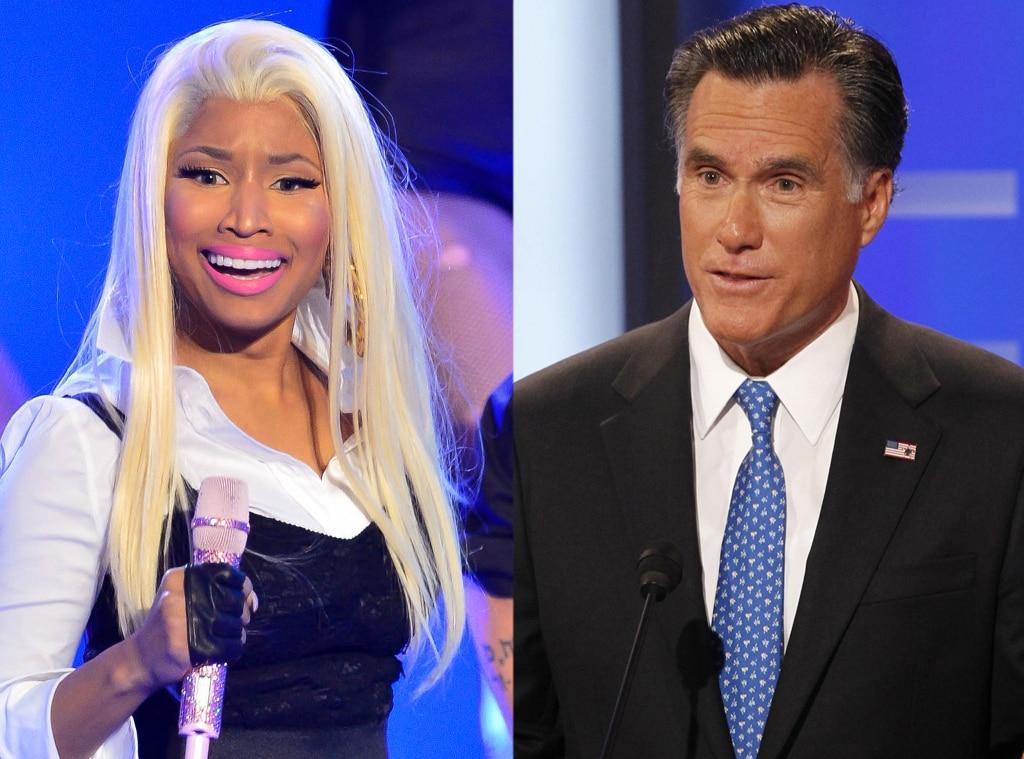 Nicki Minaj,Mitt Romney