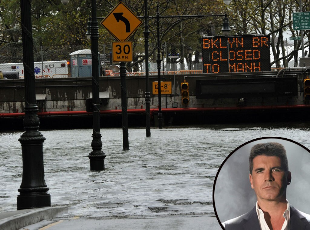 Hurricane Sandy, Simon Cowell
