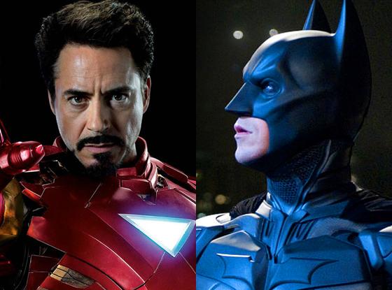 Robert Downey Jr., Iron Man 3, Christian Bale, Dark Knight