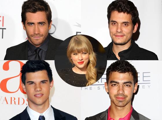 Joe Jonas, Jake Gyllenhaal, John Mayer, Taylor Lautner, Taylor Swift