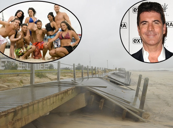 Jersey Shore Cast, Simon Cowell, Hurricane Sandy