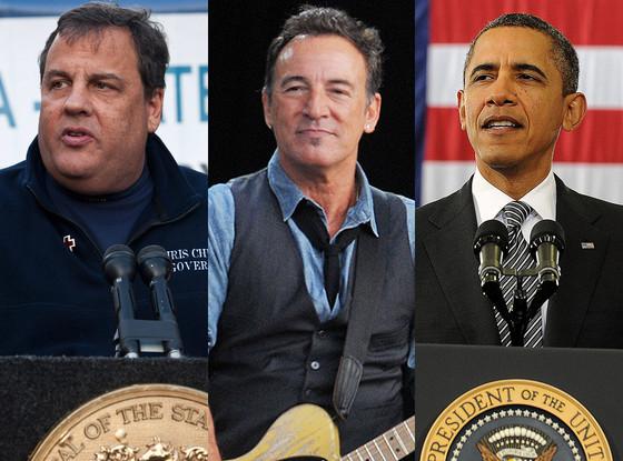Barack Obama, Bruce Springsteen, Chris Christie