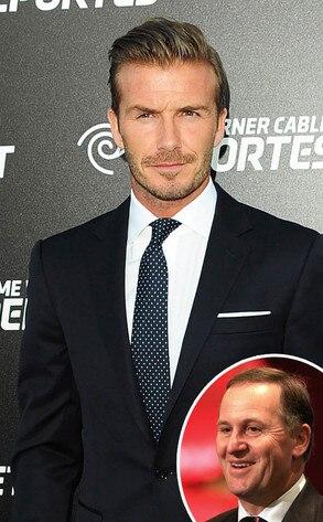 David Beckham, John Key