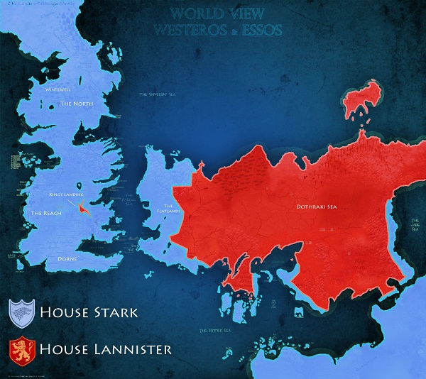 Game of Thrones Electoral Map