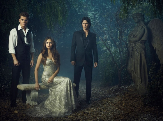 THE VAMPIRE DIARIES, Paul Wesley, Nina Dobrev, Ian Somerhalder
