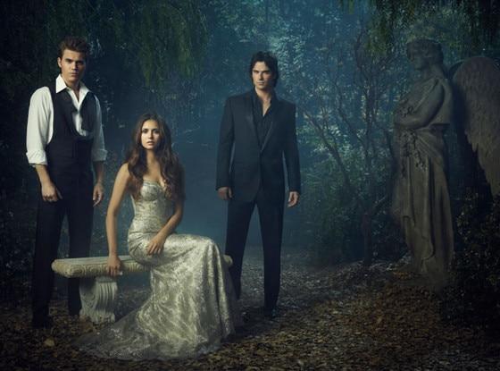 THE VAMPIRE DIARIES, Paul Wesley, Nina Dobrev, Ian Somerhalder