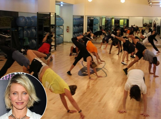 Cameron Diaz, Animal Flow Class