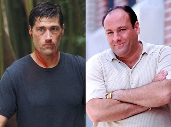 Matthew Fox, Lost, James Gandolfini, The Sopranos