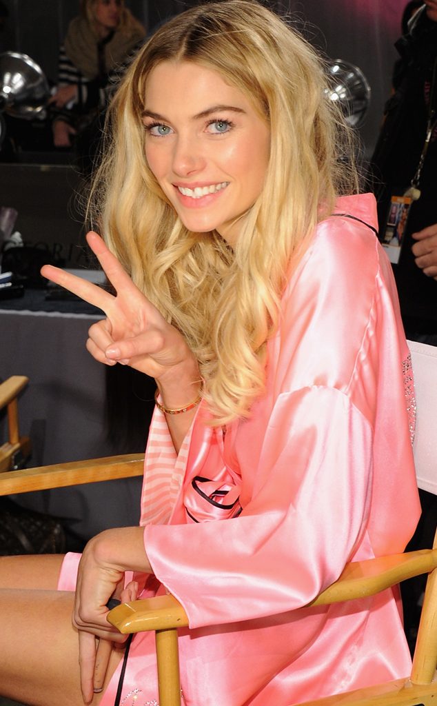 Jessica Hart, Victoria's Secret, no make-up