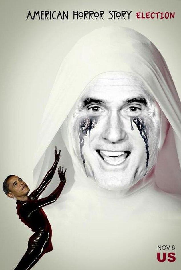 Romney, Obama, American Horror Story Meme