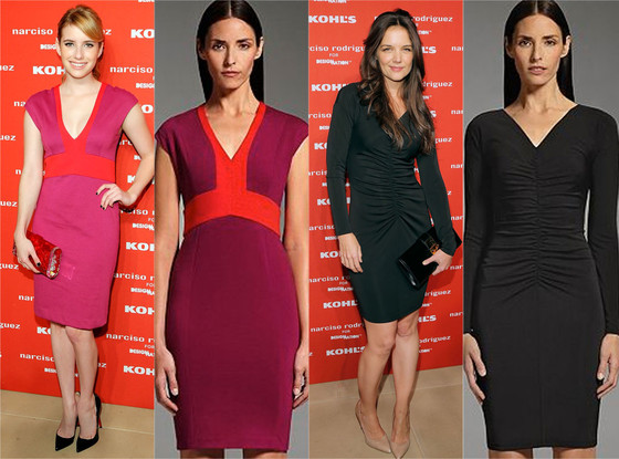 Emma Roberts, Katie Holmes, Kohls Dress