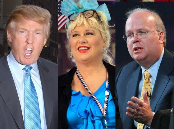 Donald Trump, Victoria Jackson, Karl Rove