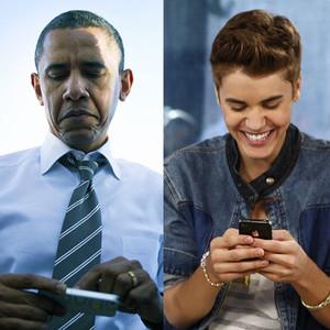 US President Barack Obama, Justin Bieber