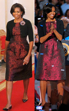 Michelle Obama S Election Night Michael Kors Dress Is